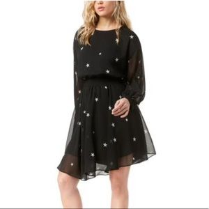 NWT RACHEL Rachel Roy Asymmetric Star Print Dress